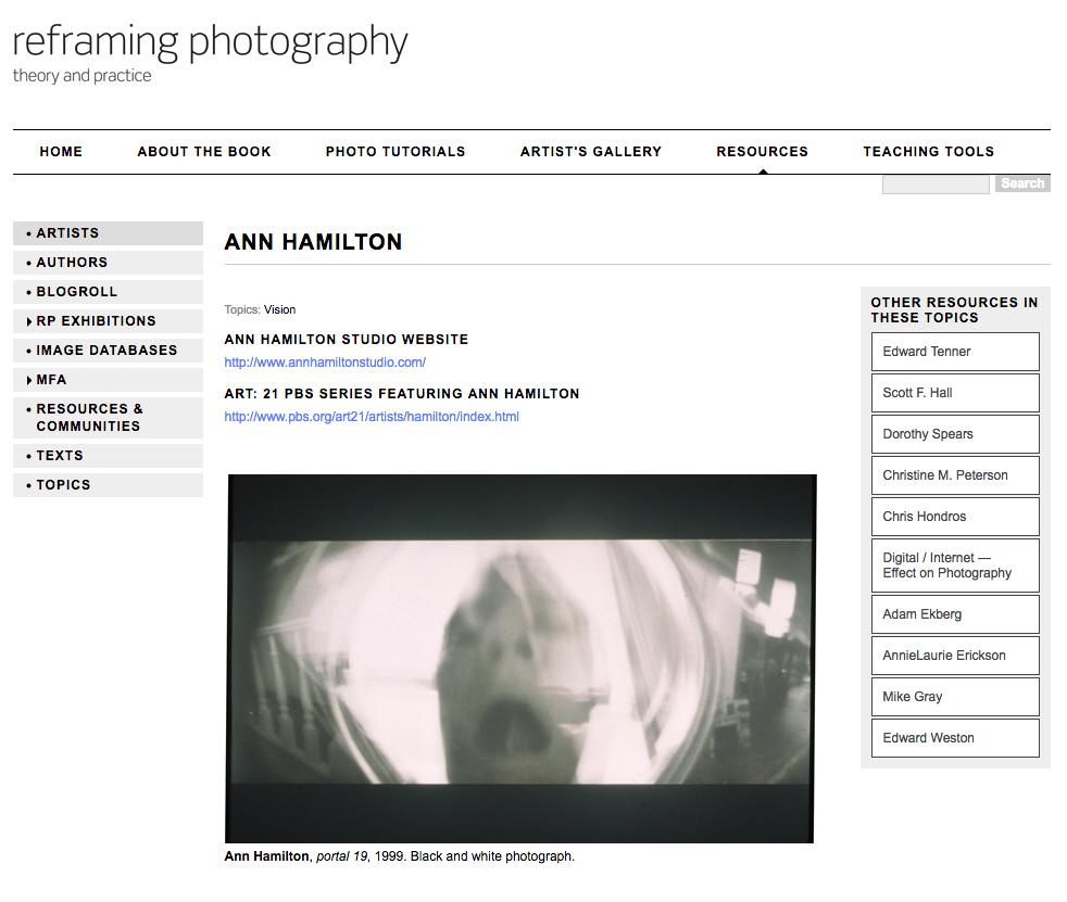 A photo of Ann Hamilton.
