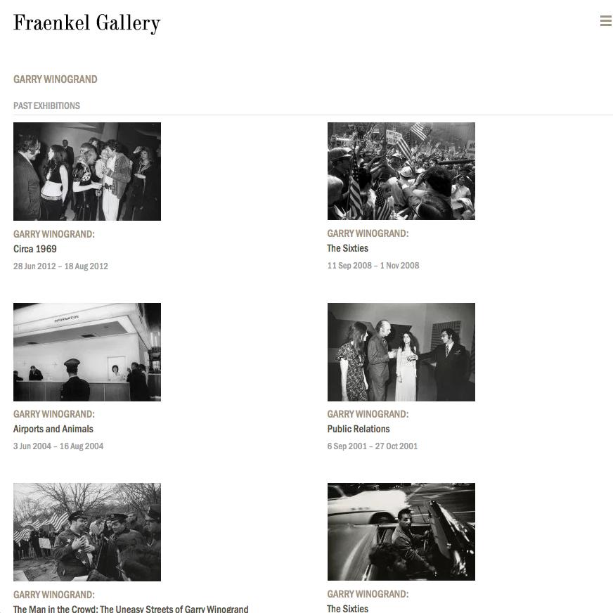 A photo of Fraenkel Gallery .